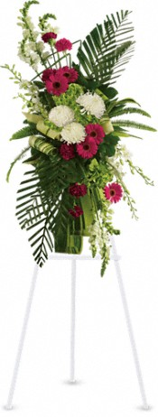 Gerberas and Palms Spray Flowers