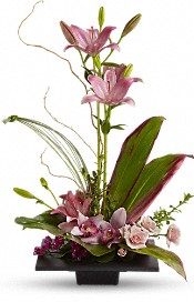 Bouquet Éclat d'imagination d'orchidées cymbidium