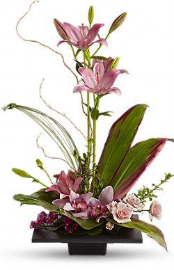 Bouquet Éclat d'imagination d'orchidées cymbidium