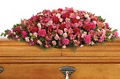 A Life Loved Casket Spray Flowers
