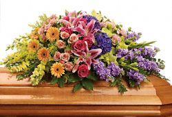 Garden of Sweet Memories Casket Spray Flowers