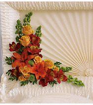 Arrangement d'intérieur de cercueil Île coucher du soleil