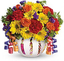 Fleurs Fleurs scintillantes d'anniversaire