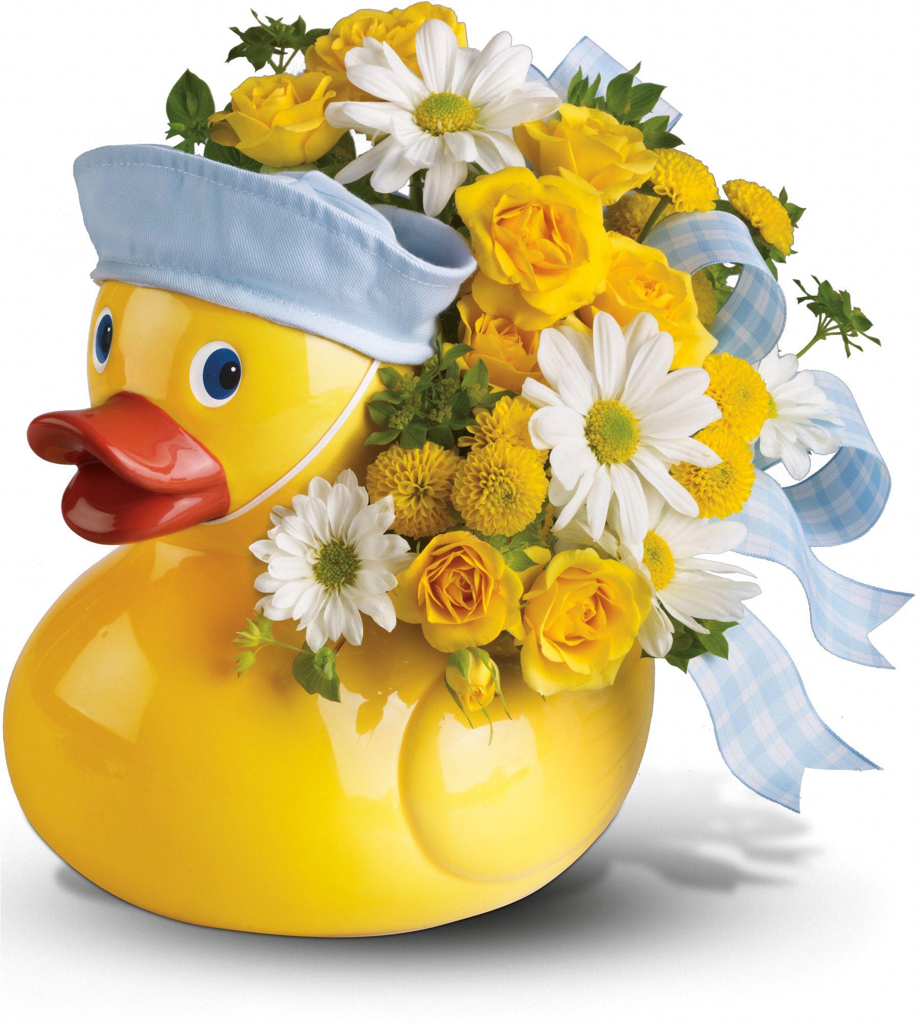 Ducky Baby Boy Bouquet