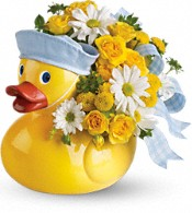 Teleflora's Ducky Delight - Boy Flowers
