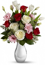 Teleflora's Love Forever Bouquet with Red Roses Flowers