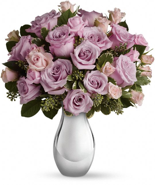 Teleflora's Roses and Moonlight Bouquet Flowers