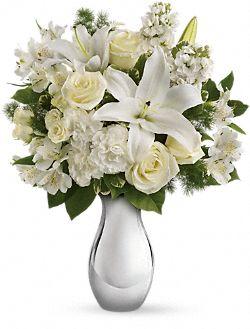 Fleurs Bouquet blanc chatoyant