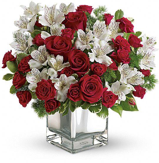 Teleflora's Christmas Blush Bouquet Flowers