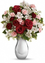 Teleflora's Crazy for You Bouquet with Red Roses Flowers