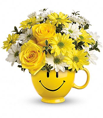 Teleflora's Be Happy Bouquet with Roses Flowers