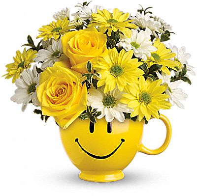 Teleflora's Be Happy® Bouquet with Roses