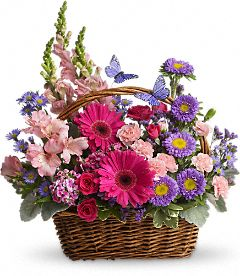 Country Basket Blooms Flowers