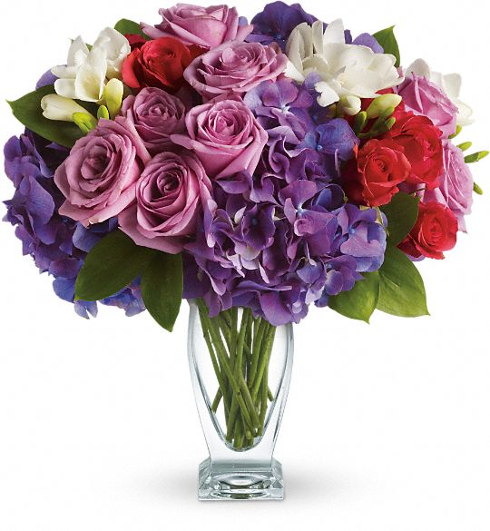 Teleflora's Rhapsody in Purple Flowers