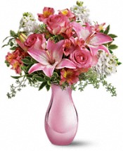 Teleflora's Pink Reflections Bouquet with Roses Flowers