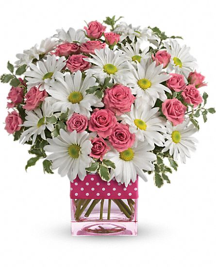 Teleflora's Polka Dots and Posies DX Flowers