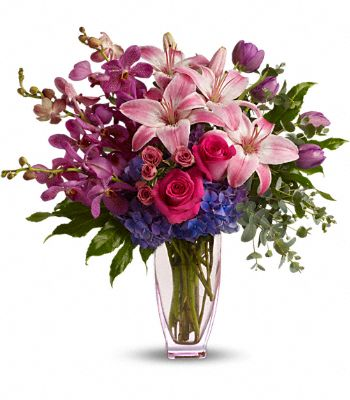 Teleflora's Purple Perfection Flowers