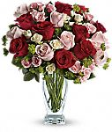 Cupid's Creation with red roses romantic bouquet