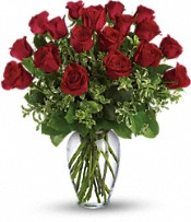 Always on My Mind DX - Long Stemmed Red Roses Flowers