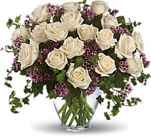 Victorian Romance White Roses Bouquet