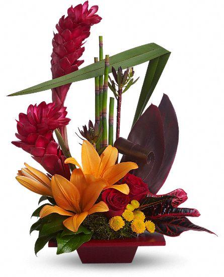 Teleflora 39 s tropical bliss flowers teleflora 39 s tropical for Bouquet exotique