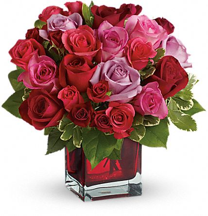 Madly in Love Bouquet with Red Roses by Teleflora Flowers