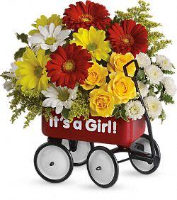 Fleurs Chariot de bébé époustouflant - Fille