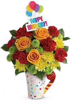 Bouquet de fleurs Amusant et joyeux