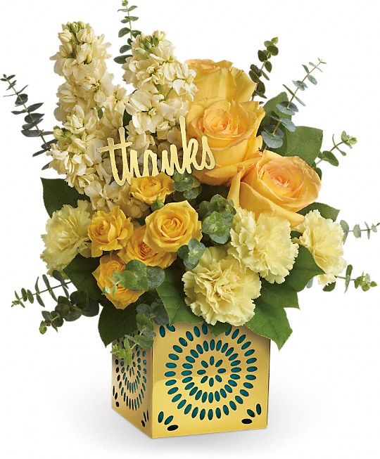 Teleflora's Shimmer Of Thanks Bouquet Flowers