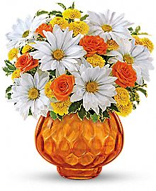 Teleflora's Rise and Sunshine Daisies Bouquet