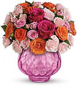 Fleurs Bouquet Feu charmant avec roses