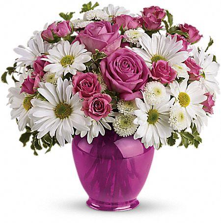 Teleflora's Pink Daisy Delight Flowers