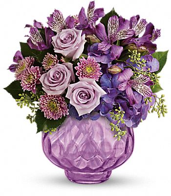Teleflora's Lush and Lavender with Roses Flowers