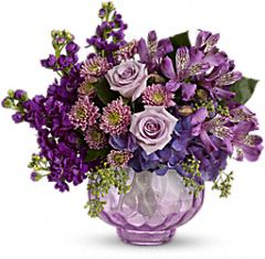 Lush and Lavender with Roses Flowers