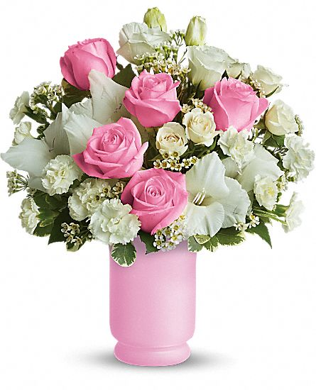 Teleflora's Pink and White Delight Flowers