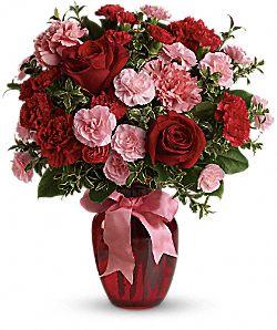 Bouquet Danse avec moi avec roses rouges