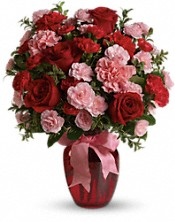 Dance with Me Bouquet with Red Roses Flowers - Deluxe