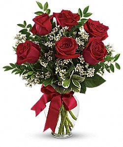 Thoughts of You Bouquet with Red Roses - Deluxe Flowers