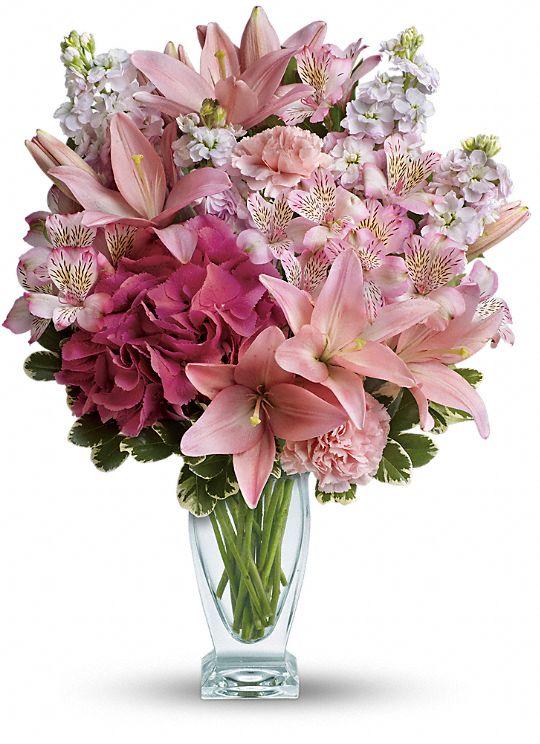 Teleflora's Blush Of Love Bouquet Flowers