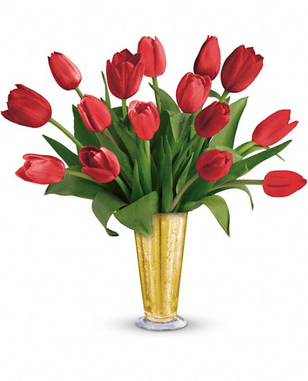 Tempt Me Tulips Bouquet by Teleflora Flowers