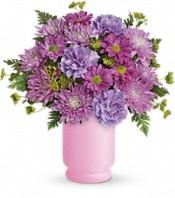 Bouquet de fleurs Poésie en mauve