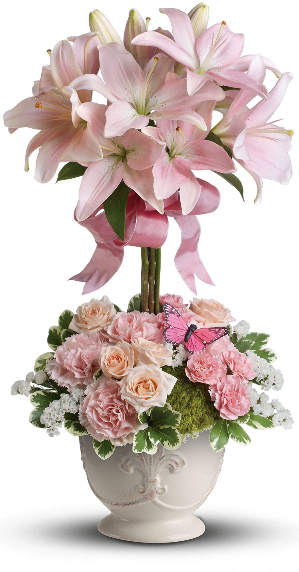 Teleflora's Blushing Lilies