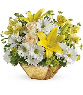 Garden Reflections Centerpiece by Teleflora Flowers