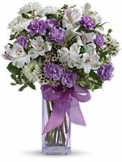 Teleflora's Lavender Laughter Bouquet Flowers