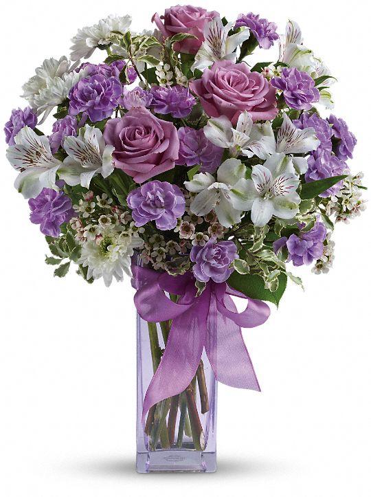 Teleflora's Lavender Laughter Bouquet Flowers