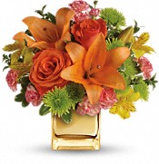 Teleflora's Tropical Punch Bouquet Flowers