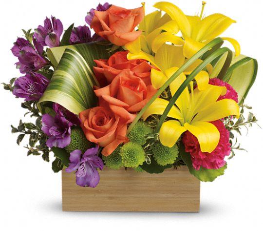 Teleflora's Shades Of Brilliance Bouquet Flowers