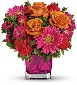 Bouquet de fleurs Le rose en vedette