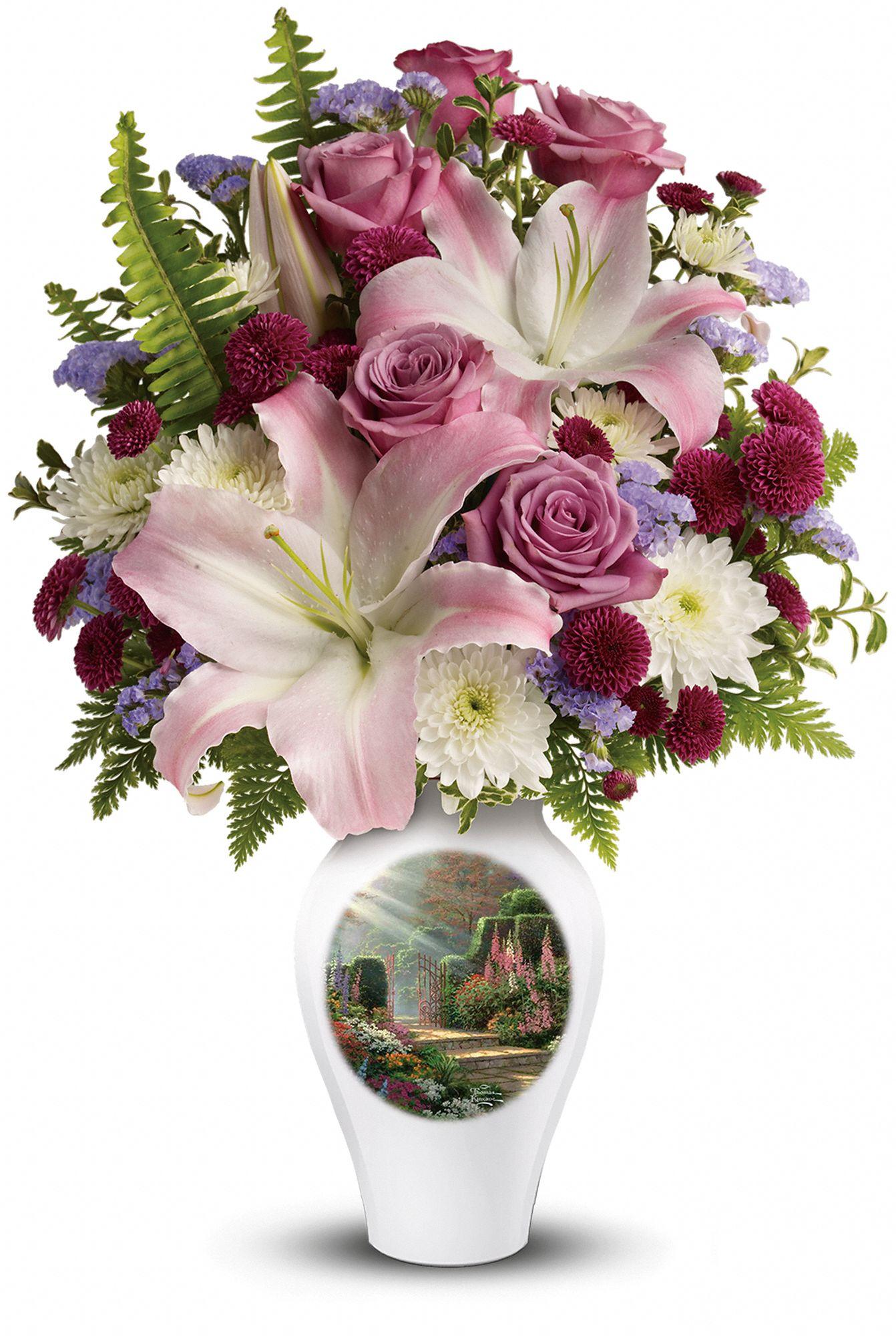 Thomas Kinkade's Moment of Grace Bouquet
