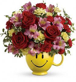 Bouquet de fleurs Bonheur d'être ensemble